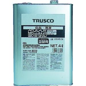ホワイトオイル詰替用(缶タイプ) 食品機械用オイル ノンガスタイプ 淡乳白色 内容量4L ECO-WO-C4