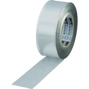 トラスコ中山 スーパーアルミ箔粘着テープ ツヤなしタイプ 50mm×50m シルバー TRAT50-2