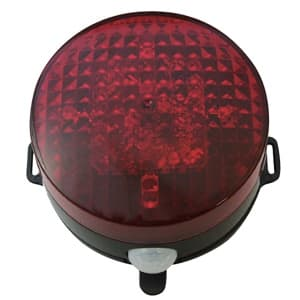 LED回転灯 パトピカⅡ 防雨型 電池式 マグネット・取付プレート付 SLR85R