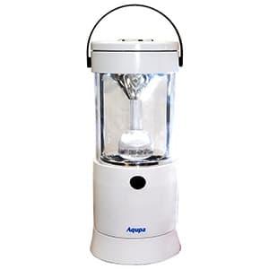 日本協能電子 LEDランタン LED×6灯 連続点灯約80時間 パワーバー付 高さ210mm 《Aqupaランプ》 白 LP-210W