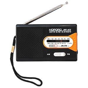日本協能電子 ミニAM・FMラジオ 水電池単3形×2本・ストラップ付 NWP-NFR