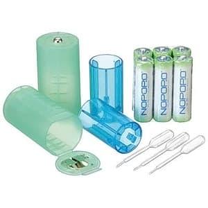 日本協能電子 水電池サイズ変換アダプターセット 水電池単3形×6本付 単1形・単2形変換アダプター×各2個入 NWP×6AD