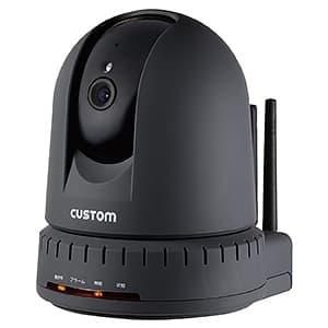 カスタム 温湿度センサー付IPカメラ 屋内用 温湿度・熱中症指数測定 赤外線ライト付 IPC-01TH