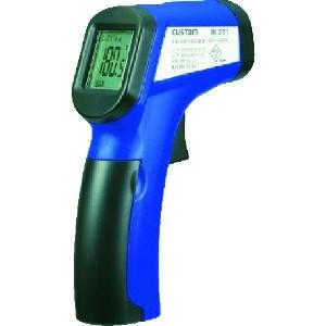 カスタム 放射温度計 距離:測定径=120cm:φ10cm 測定範囲-50〜+500℃ レーザーマーカー機能付 IR-211