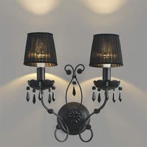 LEDブラケットライト 《クアドネーロ》 LEDランプ交換可能型 白熱球40W×2灯相当 電球色 5.0W×2灯 口金E17 AB40910L