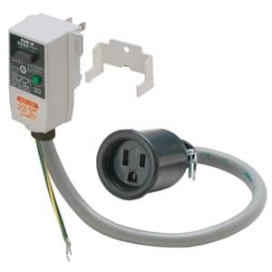 テンパール工業 漏電保護プラグ 2P1E接地極付 簡易防雨タイプ GRPD11015BC