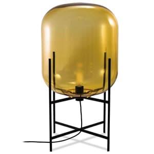 フロアランプ 《ODA S》 40W 白熱シャンデリア球 E17口金 フットスイッチ付 アンバー LF4476AM
