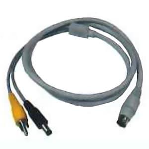 コロナ電業 カメラ用変換ケーブル 《Telstar》 RCAピンプラグ+DCプラグ⇔専用コネクター 長さ1m C-01SPV