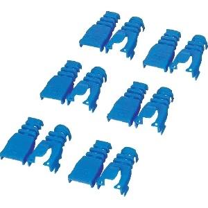 ELECOM コネクタ保護カバー 後付けタイプ 6個入 ブルー LD-ABBU6