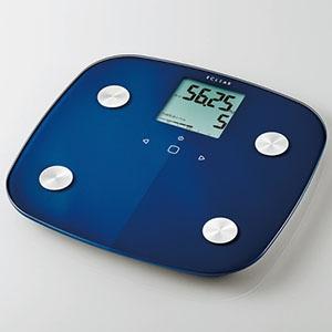 ELECOM 体組成計 《ECLEAR》 電池式 計量範囲2.5〜150kg ブルー HCS-FS01BU