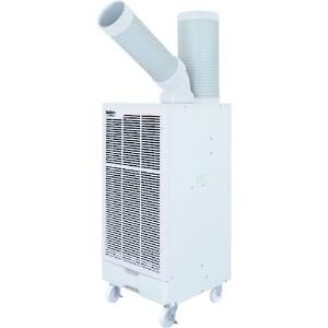 スイデン スポットエアコン 業務用 冷風1口 フロアタイプ 100V 自動首振り装置なし ホワイト SS-28EJW-1
