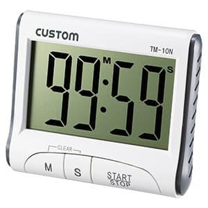 カスタム タイマー 最大99分59秒 大型液晶表示 TM-10N