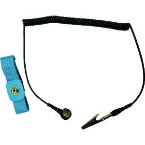 カスタム 防静電アンクルストラップ バンドサイズ2×25cm グランドコード 1.8m AS-208-256