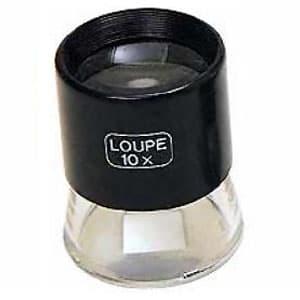 エンジニア インスペクションルーペ 1目盛0.2mm 倍率10倍 シングル2枚レンズ ケース付 SL-55