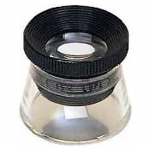 エンジニア インスペクションルーペ 1目盛0.1mm 倍率15倍 シングル3枚レンズ ケース付 SL-56