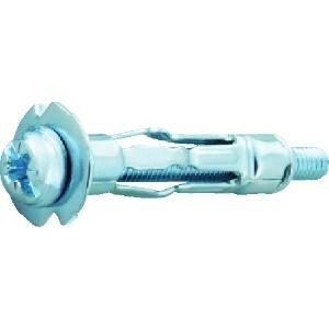 ボードロック ナベ頭+-兼用タイプ(スチール/ユニクロ) ねじ径M4 適合材:中空構造壁 50本入 B-405