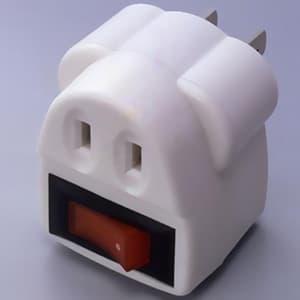 旭電機化成 【生産完了品】節電コンセント 定格125V 15A 照光式タンブラースイッチ ASW-001