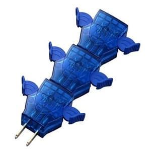旭電機化成 らくらくプラグⅡ 3個組 ブルー/ブルー ARR20-TBBB