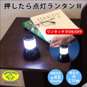 旭電機化成 押したら点灯ランタンⅢ 電池式 白色LED×1灯 明るさ21lm ALA-4301S