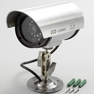旭電機化成 防犯LED点滅ダミーカメラ 電池式 赤色LED×1灯 角度調節付 ADC-209