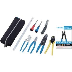 ホーザン 電気工事士技能試験工具セット 基本工具+VVFストリッパー DK-18