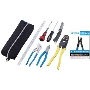 ホーザン 電気工事士技能試験工具セット 基本工具 DK-19