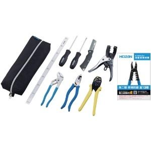 ホーザン 電気工事士技能試験工具セット 基本工具+VVFストリッパー+VVFペンチ DK-16