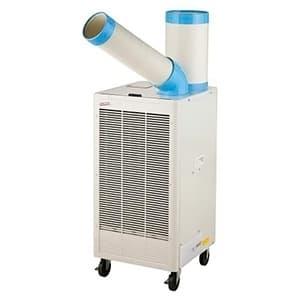 ナカトミ 排熱ダクト付スポットクーラー 床置タイプ 単相100V 自動首振機能付 風量2段階切替 N407-TC