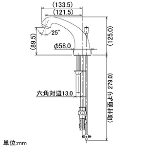 カクダイ 2ハンドル混合栓 《ANTIRA》 洗面用 3ホールタイプ 取付穴径30〜36mm 吐水口高さ89.5mm 引棒付 2ハンドル混合栓 《ANTIRA》 洗面用 3ホールタイプ 取付穴径30〜36mm 吐水口高さ89.5mm 引棒付 153-029 画像2