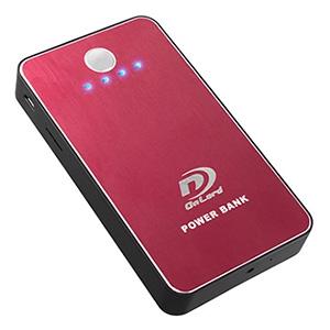 オンスクエア 【生産完了品】小型防犯カメラ モバイルバッテリー型 3000mAh ワインレッド A-640R