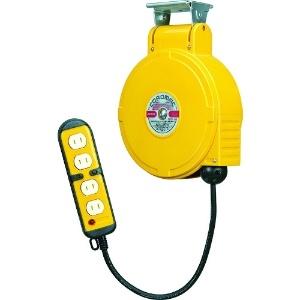 取付型自動巻取リール 電気用 《コードマックMS》 100V型 2P四ッ口コンセント 電線長8m VCT2.0㎟×2C 温度センサー内蔵 CBS-082Q