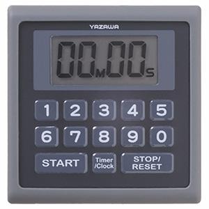 電材堂 業務用デジタルタイマー 防滴仕様 時計機能付 ブラック T34BKECO