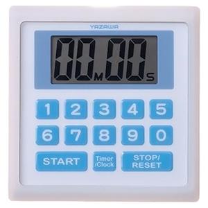電材堂 業務用デジタルタイマー 防滴仕様 時計機能付 ホワイト T34WHECO