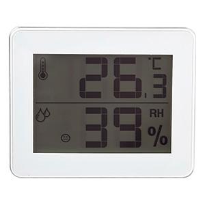 電材堂 デジタル温湿度計 ビッグディスプレイタイプ ホワイト DO01WHECO
