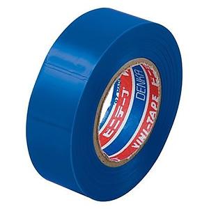 電材堂 【生産完了品】【ケース販売特価 10巻セット】ビニールテープ 19mm×10m ブルー SF1910BDNZ_set