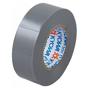 電材堂 【生産完了品】【ケース販売特価 10巻セット】ビニールテープ 19mm×10m グレー SF1910EDNZ_set