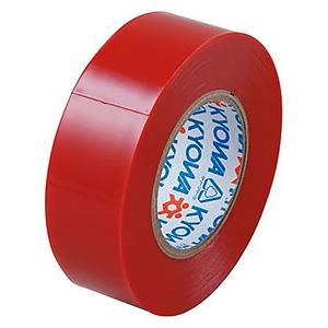 電材堂 【販売終了】【ケース販売特価 10巻セット】ビニールテープ 19mm×10m レッド SF1910RDNZ_set