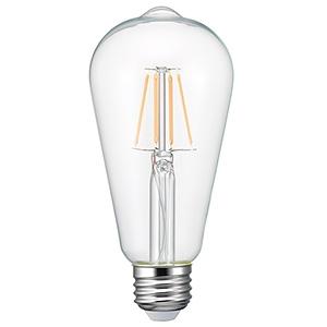 電材堂 【販売終了】LEDフィラメント電球 クリアタイプ エジソン電球40W形相当 電球色 口金E26 LEDフィラメント電球 クリアタイプ エジソン電球40W形相当 電球色 口金E26 LDE4LGCDNZ