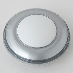 電材堂 【生産完了品】LEDミニプッシュライト 乾電池式 高輝度白色LED×1灯 シルバー PR5SVDNZ