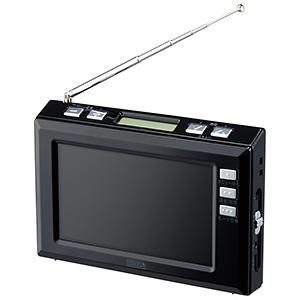 電材堂 ワンセグラジオ 4.3インチディスプレイ ブラック TV03BKDNZ