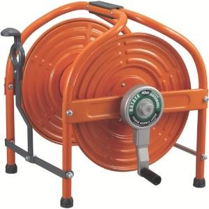 テツノホースリール 本体のみ 40m巻用 パワーハンドル付 オレンジ HLA-0N(O)