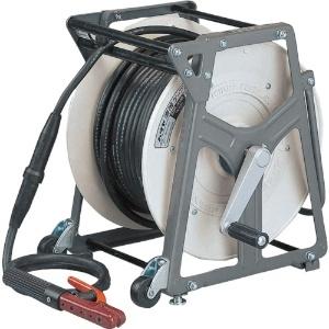 溶接ケーブルリール 電線長30m WCT22㎟×1C ホルダーセット・キャスター付 EDR-3022