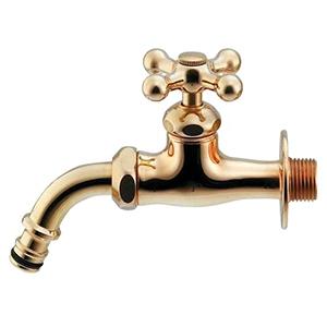 ガーデン用万能ホーム水栓 単水栓タイプ 固定コマ式 呼び13 逆流防止機能・整流器付 レトロ 701-305-13