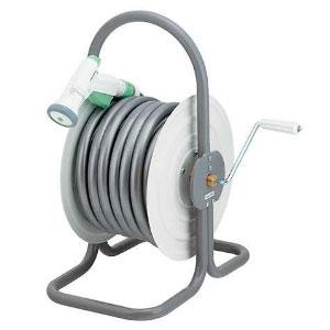 ホースドラム 散水・屋外冷却用 ホース付 554-503
