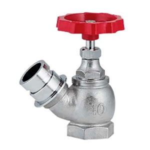 散水栓45° 大口径タイプ 農水用 呼び40 マチノオス 652-710-40