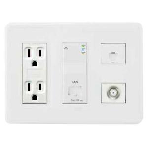 Abaniact Wi-Fi APユニット一体型情報コンセント 4K・8K対応 Cat5eタイプ Wi-Fi/LAN・TEL・TV AC-212VTLW-02
