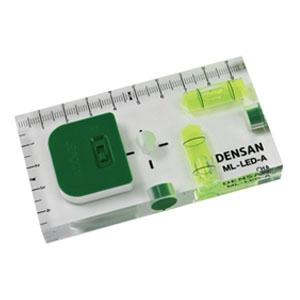 ジェフコム LEDライト付レベル 垂直・水平 磁石(2面・合計2個)・目盛り付 ML-LED-A