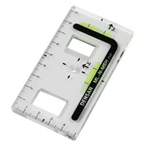 ジェフコム スイッチボックスケガキレベル つまみ穴付タイプ 垂直・水平 磁石なし 目盛り付 ML-N-MSH