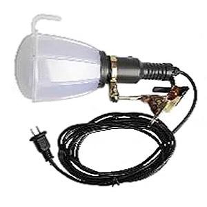 LED投光器 屋内・屋外作業用 クリップ式 21W 360°タイプ 昼光色 電線長5m 吊り下げフック2個付 SW-21W-W/C