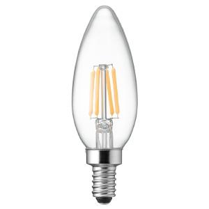 電材堂 LED電球 C32シャンデリア形 クリアタイプ 25W形相当 電球色 口金E12 LDC2LG32E12CDNZ